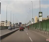 فيديو| سيولة مرورية بكوبرى «أكتوبر»