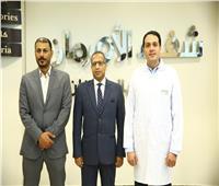 رئيس جامعة الأقصر يزور مستشفى شفاء الأورمان لعلاج الأورام