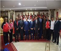 وزير الرياضة يُكَرم منتخب التجديف لحصوله على درع البطولة الأفريقية