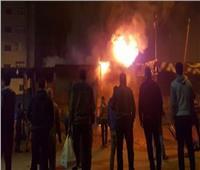 إخماد حريق نشب داخل كابينة كهرباء بجوار محطة مترو حلوان