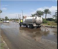37 سيارة شفط لمياه الأمطار بالمنطقة الجنوبية في القاهرة