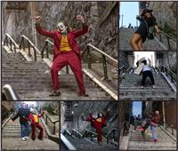 صور| «مهاويس الجوكر» يرقصون على سلالم آرثر فليك !