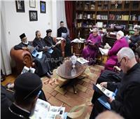وفد لجنة الحوار بين الكنائس يلتقي مطران الأسقفية