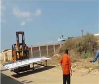 «آثار الإسكندرية»: إزالة تعديات من حرم الطابية الحمراء الأثرية