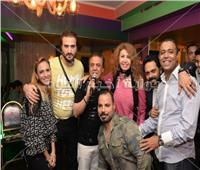 صور  ياسر عدوية وميسرة يحتفلان بعيد ميلاد رائف الأبيض