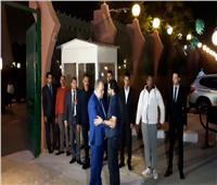 فيديو و  صور| هنيدي وأحمد حلمي يصلان عزاء هيثم أحمد زكي