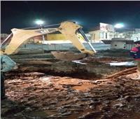انفجار خط المياه الرئيسي يتسبب فى قطع المياه عن مدينة سوهاح