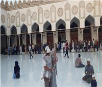 صور| الأسر تتوافد على احتفالية المولد النبوي بالجامع الأزهر