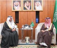 رئيس البرلمان العربي يلتقي وزير الخارجية السعودي