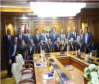 تكريم منتخب جامعات مصر الفائز بالبطولة العربية لكرة الصالات بأبوظبي
