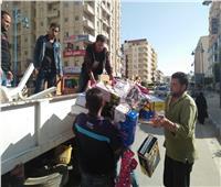 حملات مستمرة لإزالةالإشغالات بشوارع مطروح