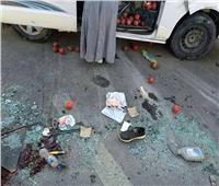 إصابة 3 طلاب في حادث سير بطريق جامعة سوهاج
