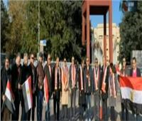 فيديو| الجالية المصرية بسويسرا تنظم وقفة أمام مقر الأمم المتحدة لدعم مصر