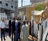 حملة مكبرة لإزالة الإشغالات وضبط المخالفات المرورية بنجع حمادي