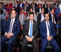 صور| وزير الرياضة ونجوم الكرة في نهائي دوري «مستقبل وطن»