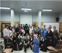 الأنبا باخوم يلتقي بمسؤولي وراهبات معهد التربية الدينية