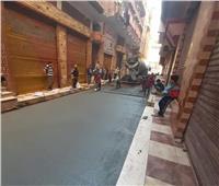 أهالي قرية بالغربية يرصفون شوارعها على نفقتهم الخاصة