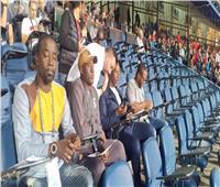 مدرب غانا يتابع مباراة مصر وجنوب أفريقيا من المدرجات