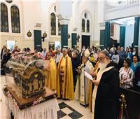 كاتدرائية القديس يوسف المارونية بالظاهر تستقبل رفات القديسة تريزا