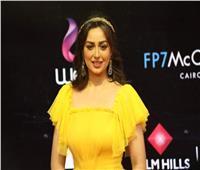 صور| هبة مجدي بإطلالة ملائكية في حفل افتتاح مهرجان القاهرة السينمائي