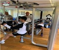 صور| تدريبات استشفائية للاعبي المنتخب الأوليمبي استعداداً لنهائي كأس الأمم