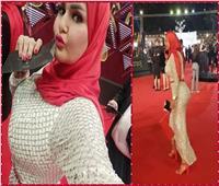 شاهد| سما المصري بـ«الحجاب» في مهرجان القاهرة السينمائي.. تعرف على السبب