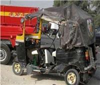 إصابة ٧ أشخاص في حادث تصادم بطريق أبو المطامير بالبحيرة