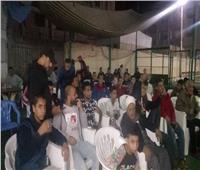 «على الكرة اتجمعنا» أهالي شبرا الخيمة يشاهدون وسط فرحة مباراة المنتخب النهائية