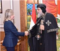 أجراس الأحد.. البابا تواضروس يستقبل رئيسة المجلس الأعلى لمنظمة المرأة العربية