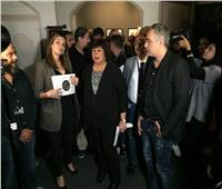 إيناس عبد الدايم وإلهام شاهين ولبلبة يفتتحون معرض «القاهرة.. أحبك»