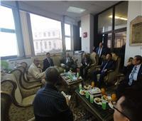 وفد قضائي صيني يزور مجمع محاكم الإسكندرية