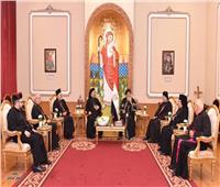 البابا تواضروس يستقبل وفدًا من بطاركة الكنيسة الكاثوليكية