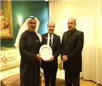 هشام حطب يبحث مع أمين مجلس أبو ظبي تأسيس اتحاد للجمباز بالإمارات