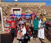 «بنك الكساء» يدعم قرى سانت كاترين بقافلة