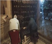 صيانة وترميم أبواب وجدران قلعة قايتباي بالإسكندرية