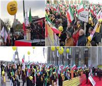صور وفيديو  التفاصيل الكاملة لتظاهر المقاومة الإيرانية بباريس ضد نظام «الملالي»