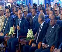 فيديو| الرئيس السيسي يفتتح محطة محولات مدينة الأثاث وكهرباء بدمياط