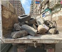 إزالة البلدورات والحواجز والكاوتش بشوارع طنطا