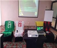 الزمالك بزيه الأساسي أمام أول أغسطس الأنجولي في دوري الأبطال
