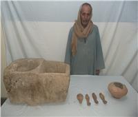 ضبط معصرة زيوت و٣ تماثيل أثرية أسفل منازل بأسيوط