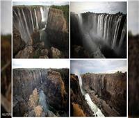 صور| التغيير المناخي يصيب أعظم شلالات العالم بالجفاف