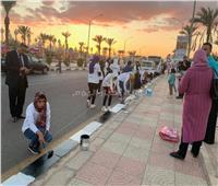 صور| انطلاق مبادرة مهرجان «ألوان» لتجميل شوارع وميادين شرم الشيخ