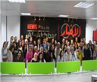 صور| جولة لطلاب «إعلام القاهرة» في الصالة المدمجة بـ«أخبار اليوم»