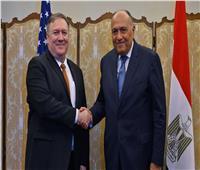 شكري يبحث مع نظيره الامريكي بواشنطن آفاق العلاقات الثنائية و تطورات مفاوضات سد النهضة