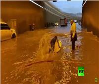 فيديو| بيروت تغرق في مياه الأمطار