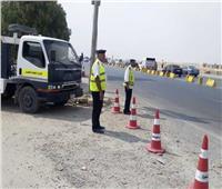 مدير الإدارة العامة للمرور يتفقد الطرق السريعة لتأمين رحلات المواطنين