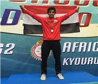 بطل التايكوندو عبد الرحمن وائل يوقع مع «روابط الرياضية» من أجل طوكيو 2020