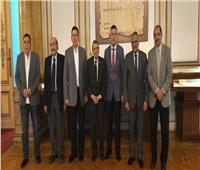 رئيس جامعة عين شمس يستقبل الدكتور مصطفى السيد بقصر الزعفران