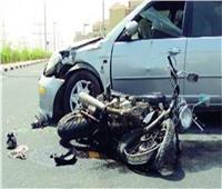 إصابة 3 طلاب في حادث تصادم دراجة بخارية وسيارة بقنا