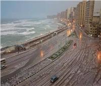 أمطار غزيرة تجتاح الإسكندرية